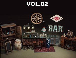 3D model Restaurant and Dive Bar VOL2