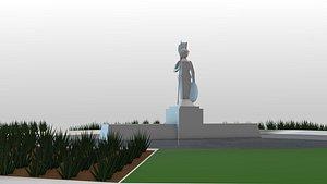mexico monument la minerva 3D model