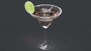 3D margarita drink cocktail
