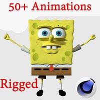 Spongebob Rigged  Animated 3d model