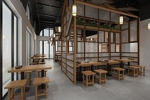 3D model Chinese Noodle Restaurant