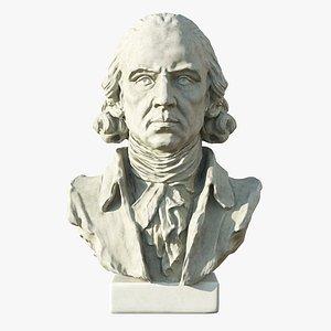 3D James Madison 4th President of United States 3D Model model