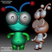 Cutie Cricut bug 3D printable model