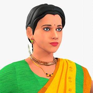 3D model Indian Woman Satakshi