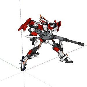 robot mazinger ro 3D model