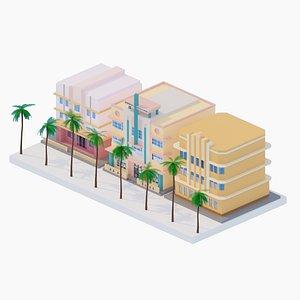 Art Deco Miami Buildings 3D
