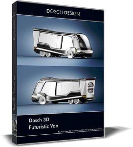 3D model van futuristic