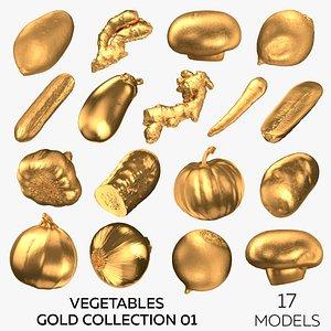 3D model Vegetables Gold Collection 01 - 17 models