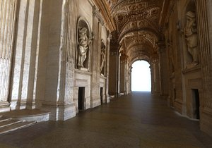 3D Corridors of the Vatican model