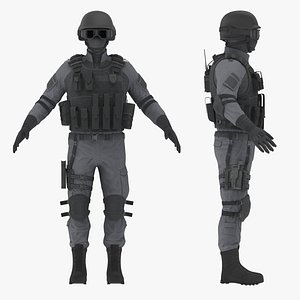Police Special Force Officer model
