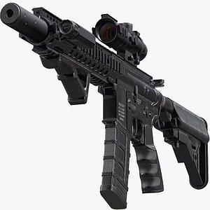 3D Modular M4A1 - Triple A Game Ready