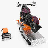 Portable Lift Kit with Motorcycle
