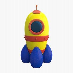 3D Wooden toy Rocket