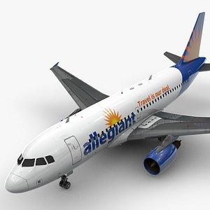 3D AirbusA319-100ALLEGIANT AIRL1435