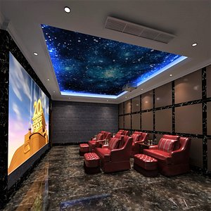 Full VIP Cinema Room 3D model
