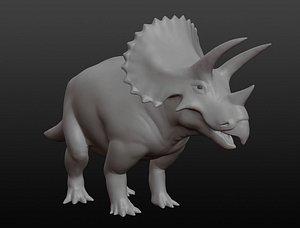 3D Triceratops base mesh