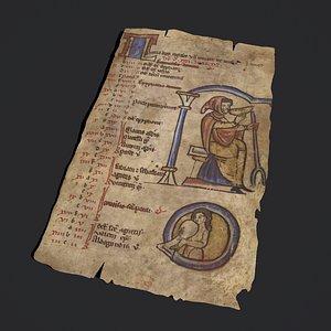 January Manuscript Page 3D