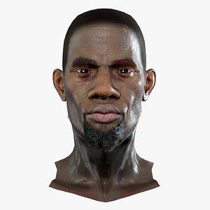 Kevin Realistic model of male head 3D model