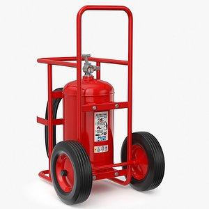 3D Wheeled Extinguisher v2 model