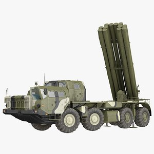 3D bm-30 smerch rocket launcher model