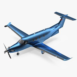 turboprop business aircraft plane 3D model