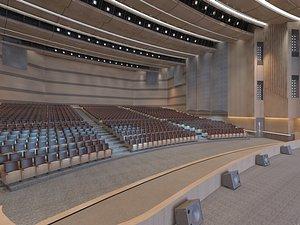 theater interior auditorium model
