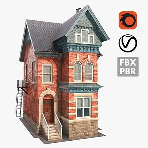 3D model victorian house 01