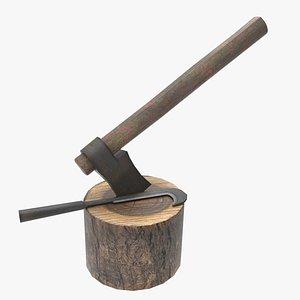 3D wood cutter set model