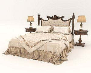 3D European Style Bed 19