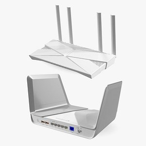 3D modern wifi routers