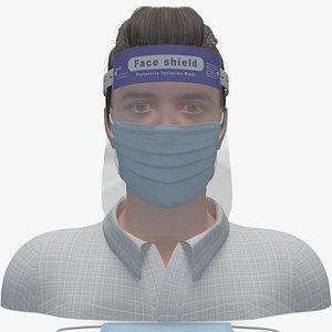 3D face mask shield