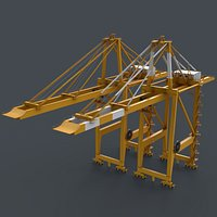 PBR Quayside Container Crane V2 - Yellow