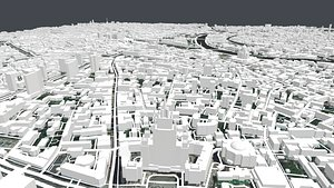 3D Cityscape Moscow The First Garden ring