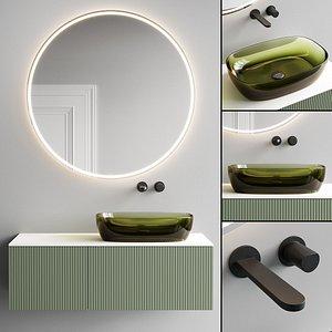 3D Antonio Lupi Design Binario 12 Vanity Unit Set 6