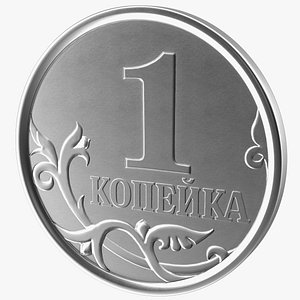 Russian 1 Kopek Coin 3D model
