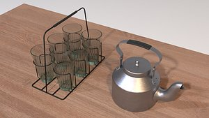 indian india kettle 3D model