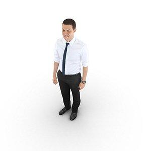3D guy tie happy model