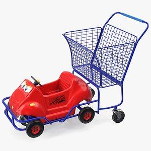 3D model Supermarket Toy Car Shopping Cart