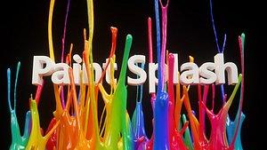 Paint Splash Animated model