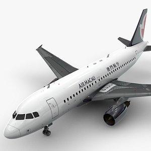 AirbusA319-100AIR MACAUL1438 3D