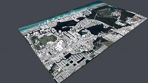 Cityscape Sunny Isles Beach Miami Florida USA model