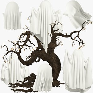 Funny Ghosts Collection V8 3D model