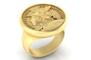 3D model ring french republic republique