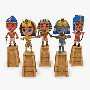 ancient egyptian warriors 3D model