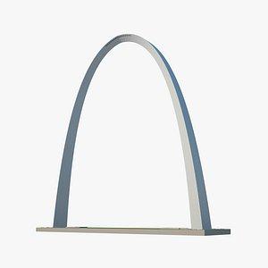3D arch gateway gate model