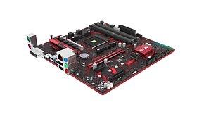 3D model Asus AMD AM4 Prime EX-A320M Motherboard