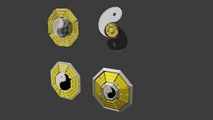 3D bagua yin yang model