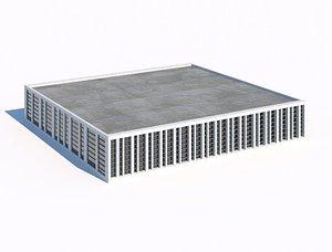 3D warehouse or garage or pavilion 3d model