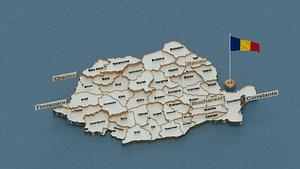 3D state flag model
