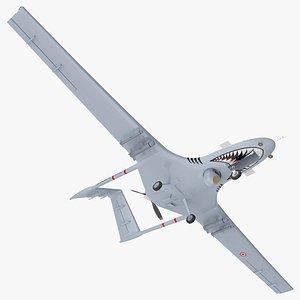 3D Bayraktar TB2 Unmanned Combat Aerial Vehicle